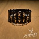 Free Shipping Bullets Gothic Bracelet Wrist Band Goth Punk Emo (B635R)