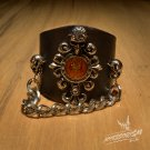 Free Shipping Gothic Classic Skull Bracelet Wristband Cuff Rock (B637R)