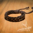 Free Shipping Dark Brown Leather Bracelet (B651S)
