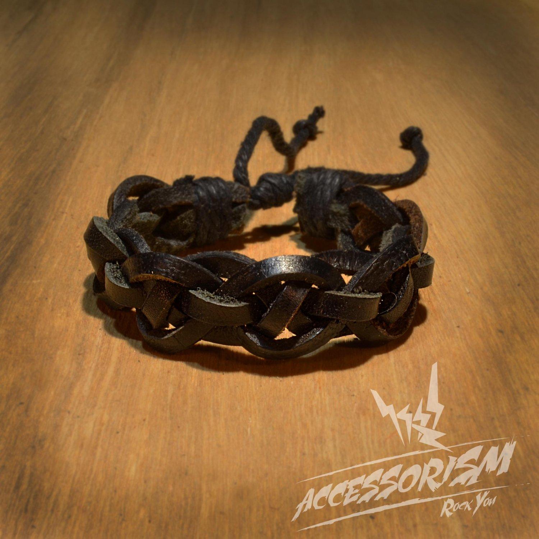 Free Shipping Black Leather Bracelet (B656S)