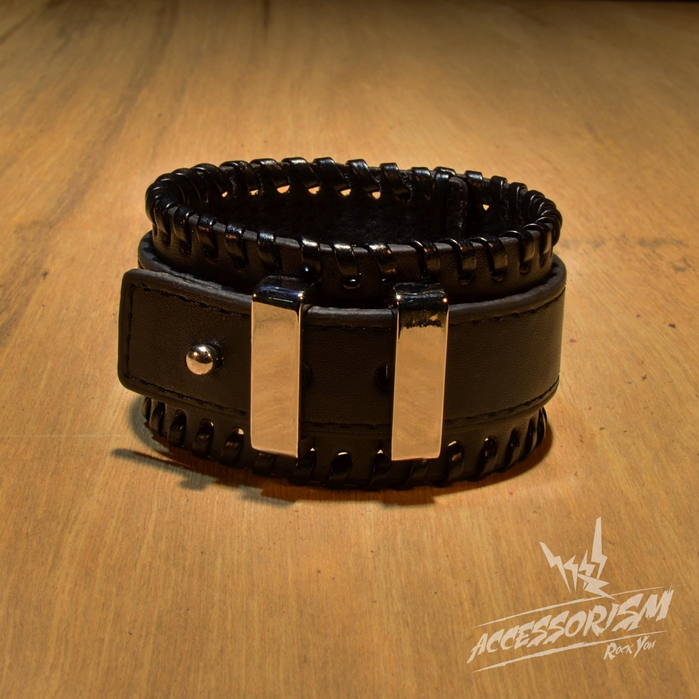 Free Shipping Gothic Punk Leather Stud Wristband Cuff (B673R)