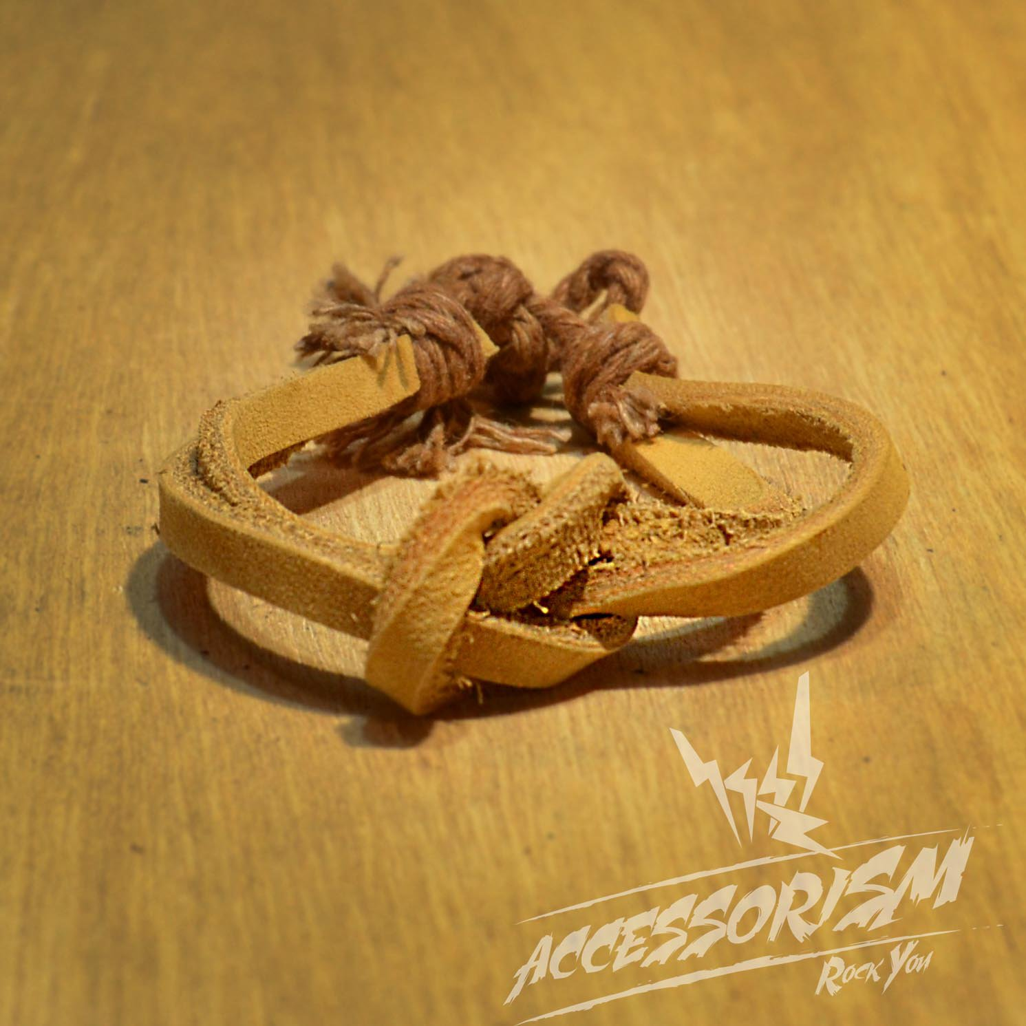 Free Shipping Light Brown Leather Bracelet (B650S)