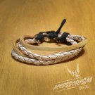 Free Shipping Multi White Leather Bracelet (B657S)
