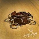 Free Shipping Gothic Punk Leather Stud Wristband Cuff (B620R)