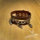 Free Shipping Gothic Bullet Cuff Wristband Bracelet Rock Punk (B627R)