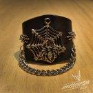 Free Shipping Spider Gothic Bracelet Wristband Cuff Rock Punk (B631R)