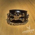 Free Shipping Skull Gothic Bracelet Wristband Cuff Punk (B632R)