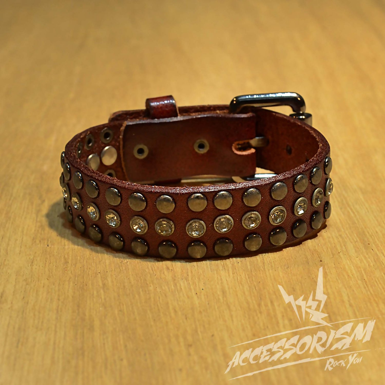 Free Shipping 2 Multi Metal Circle Line with Middle Line Circle Shine Red Leather Bracelet (B650RR)