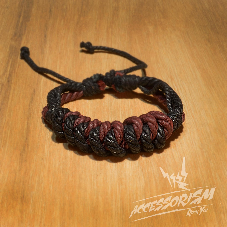 Free Shipping Maroon & Black String Bracelet (B674S)