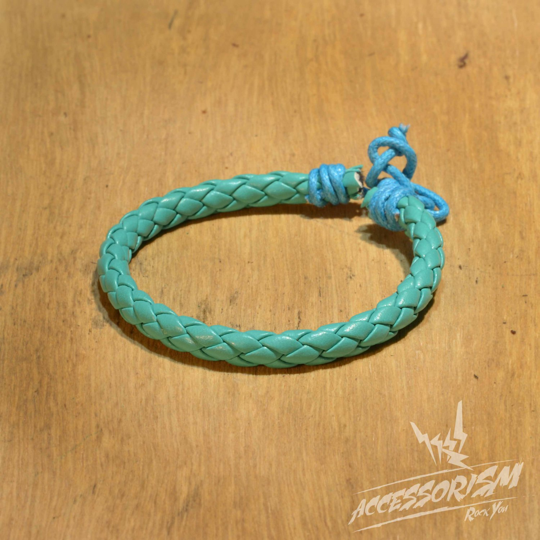 Free Shipping Light Blue Leather String Bracelet (B697S)