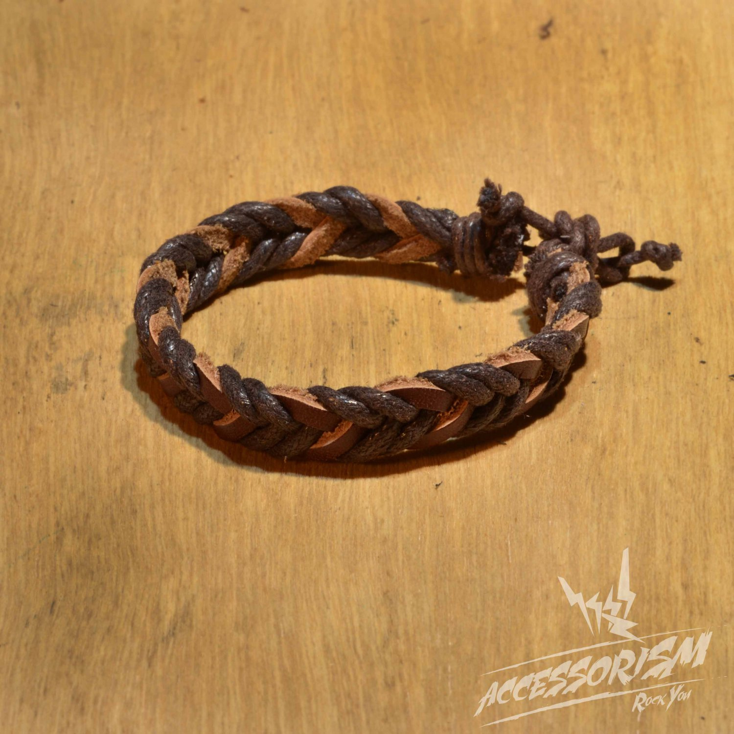 Free Shipping Dark Brown String with Brown Leather String Bracelet (B690S)