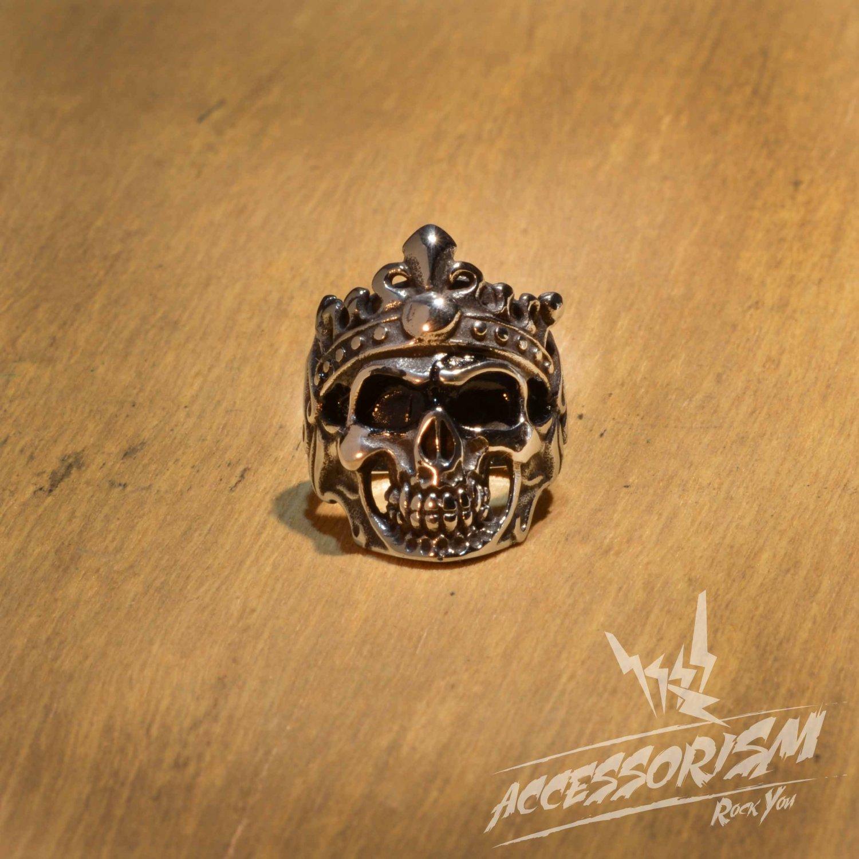 Free Shipping Steel Skeleton King Ring (R622R)