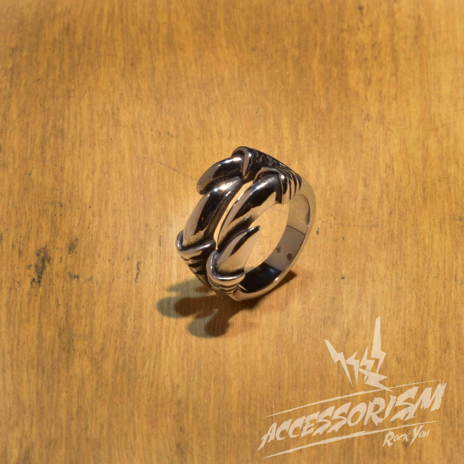 Free Shipping Steel Claw Ring (R623R)