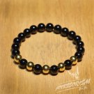 Free Shipping Black & Gold Bead Bracelet (B706S)