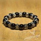 Free Shipping Black & Silver Beads Bracelet (B709S)