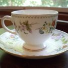 2 Mirabelle by Wedgwood~Bone China~Footed Cup & Saucers