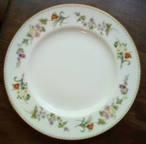 "2 Mirabelle Wedgwood~Bone China~10-3/4"" Dinner Plates"
