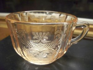 2 Pink Depression Federal Glass~MADRID~Cups~c.1932-39
