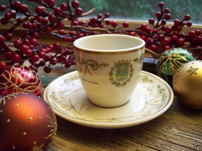 SCAMMELL-LAMBERTON Restaurantware Demitasse Cup & Saucer Fleur de Lis