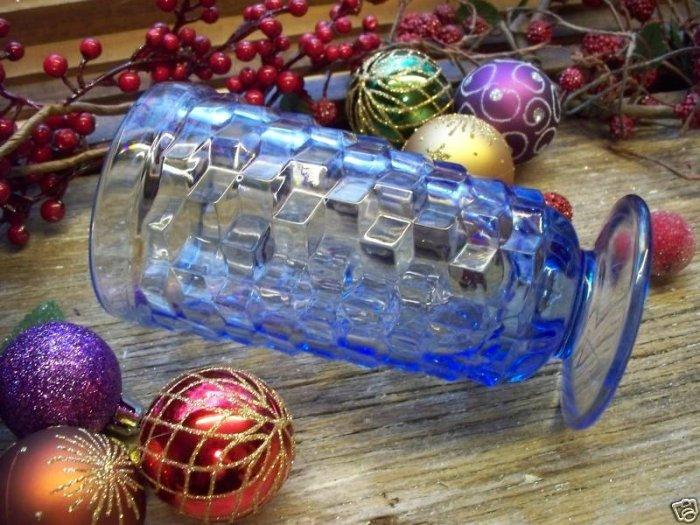 Set of 7 Vintage Colony Whitehall Light Blue Footed Iced Tea Glasses