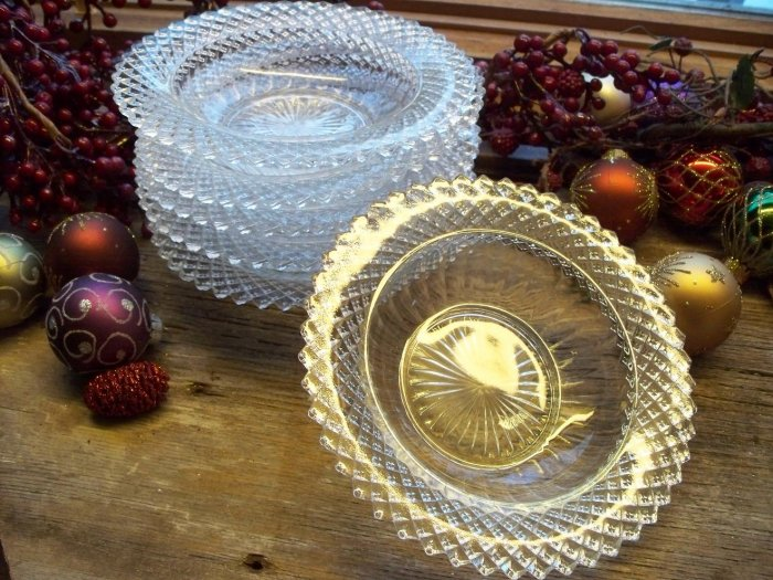 """Miss America by Anchor Hocking Crystal 6-3/4"""" Cereal Bowl"""