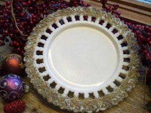 """Antique EAPG Fancy Ornate Block Border 8-1/2"""" Plate"""