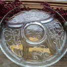 McKee Rock Crystal Depression Glass 5 Part Divided Relish Tray