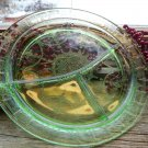 Hocking Depression Glass Green~CAMEO BALLERINA~Grill Plate