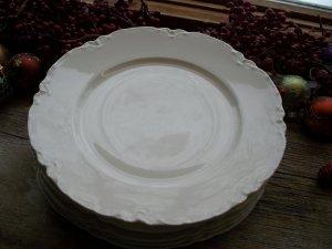 """Set of 4 Haviland Limoges France White Blank 9-5/8"""" Dinner Plates"""