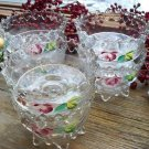Set of 6 EAPG Victorian Era Footed~Pedestal Dessert Glasses~Sherbet Cups