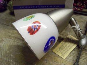 Hampton Bay Halogen Cable Track Light Fixture~White Murano Art Glass Shade