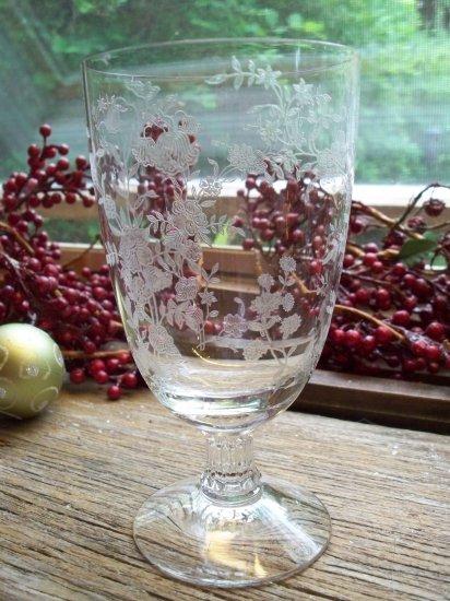 Fostoria  BOUQUET (#342) Etched Iced Tea Goblet (#6033)