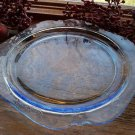 Set of 4 Federal Depression Glass MADRID Blue Dinner Plates