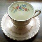Pink & Gold Monticello Dinnerware Demitasse Cup & Saucer Set