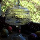"""Adams & Co EAPG SAXON Engraved 8"""" High Standard Compote c.1888"""