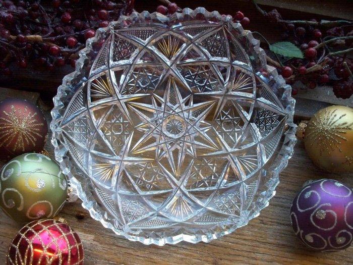 Antique American Brilliant ABP Period Cut Glass Bowl