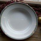 "Set of 6 Noritake ONEIDA Restaurantware Green Marble 9"" Rimmed Soup Bowls"
