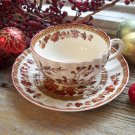 Spode Copeland INDIAN TREE Flat Cup & Saucer Set (Old Backstamp)