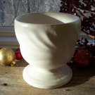 Hull Pottery F34 Cream~Ivory Matte Pedestal Planter