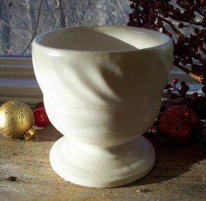 Hull Pottery F34 Cream~Ivory Matte Pedestal Planter