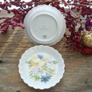 Set of 2 White & Yellow Daisy Haviland Limoges Butter Pats