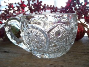 Set of 5 Ripley & Co EAPG Crystal Punch Cups~IVERNA #303 c.1911