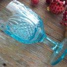 Boston & Sandwich Glass NEW ENGLAND PINEAPPLE Blue Water Goblet