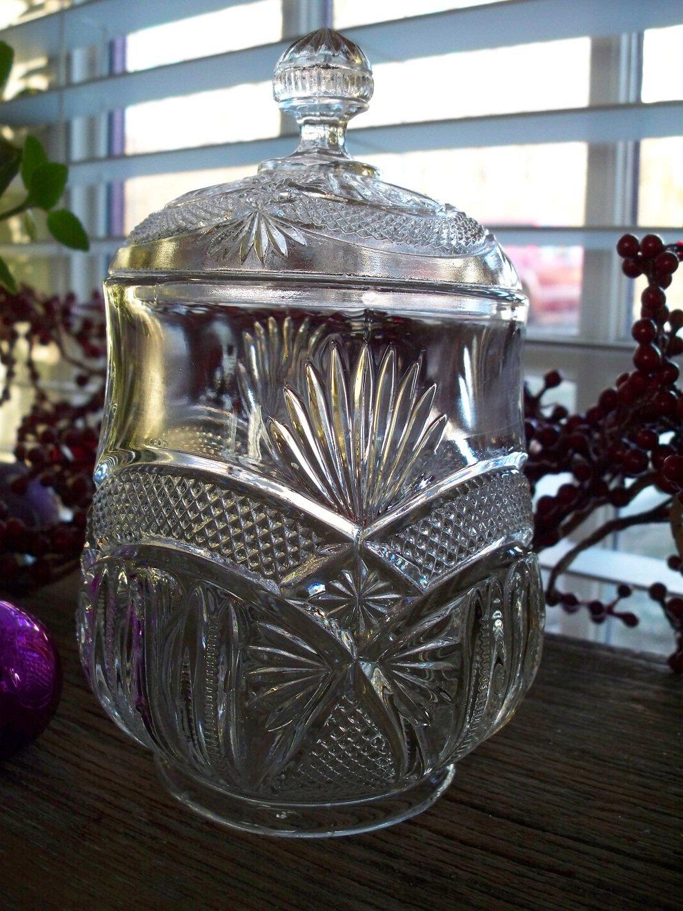 Etched Glass Burlington Pattern
