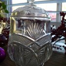 McKee Glass FANCY ARCH Pattern #300 Biscuit Jar with Lid c.1899
