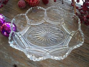US Glass Co. GALLOWAY #15086 Olive/Pickle Dish c.1904