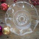 U.S. Glass Company States Series COLORADO Footed Ruffled Bowl