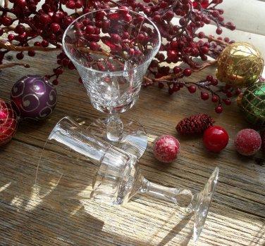 "Set of 8 Fostoria GEORGIAN 5"" Crystal Wine Glasses"