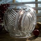 RARE McKee Flint Glass HICKMAN Pattern Glass ROSE BOWL