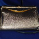 Vintage gold clutch purse small handbag formal evening purse Chain  101a
